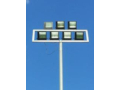 Steel poles for public lighting